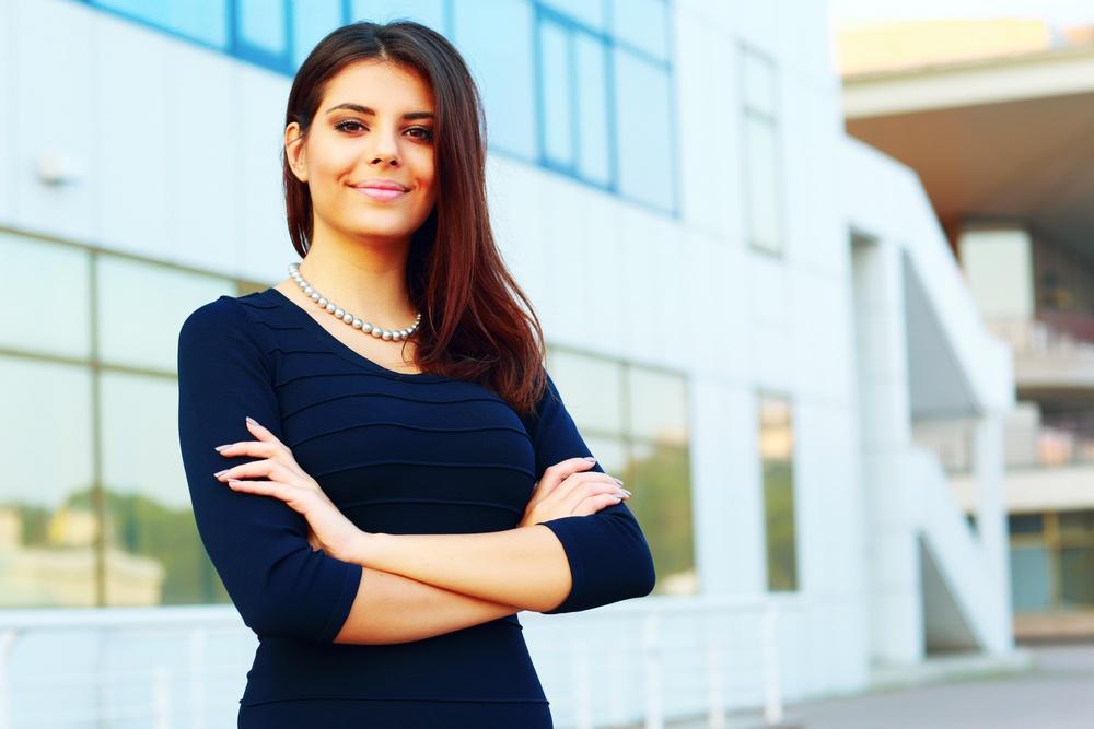 Instilling employment skills in university students. Portrait of a confident happy businesswoman.jpeg